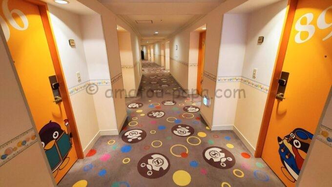 シェラトン・グランデ・トーキョーベイ・ホテル8階のフロア(トレジャーズルームのフロア)