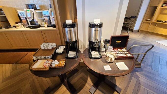 シェラトン・グランデ・トーキョーベイ・ホテルのクラブラウンジの朝食「コーヒー&紅茶」