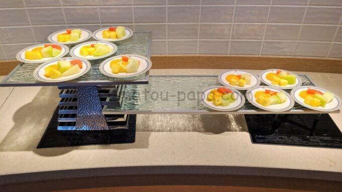 シェラトン・グランデ・トーキョーベイ・ホテルのクラブラウンジの朝食「フルーツ」