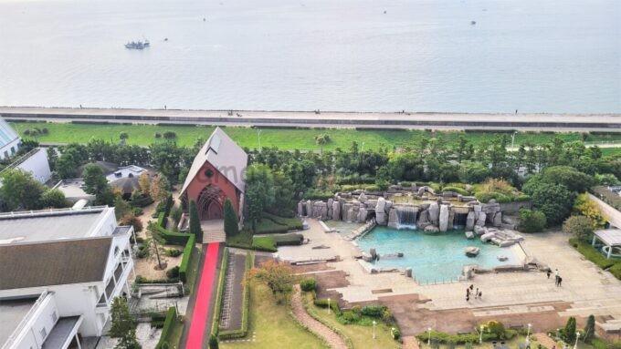 シェラトン・グランデ・トーキョーベイ・ホテルの客室からの景色(海側)
