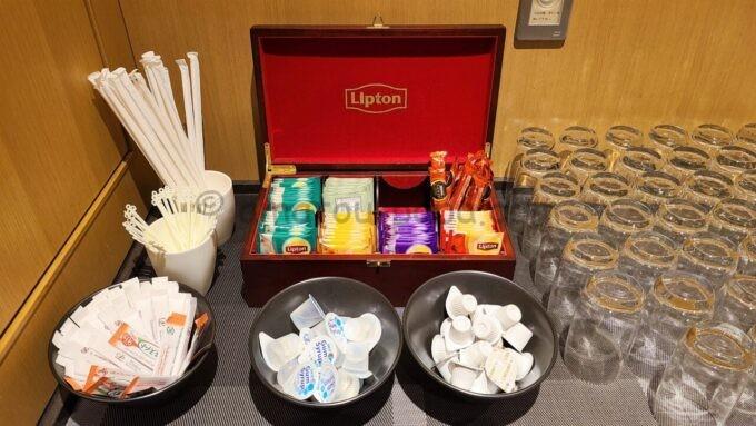 ザ・プリンス さくらタワー東京、オートグラフ コレクションのエグゼクティブラウンジのリプトン(Lipton)の紅茶