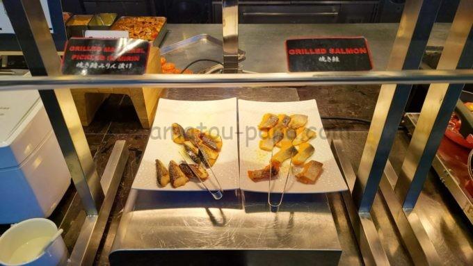東京マリオットホテルの朝食(焼き鯖みりん漬け・焼き鮭)