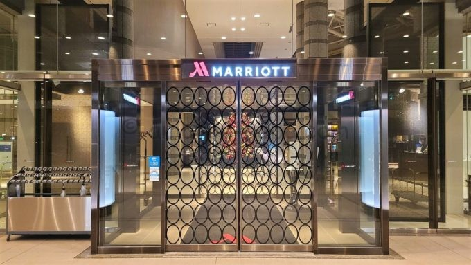 東京マリオットホテルの入り口