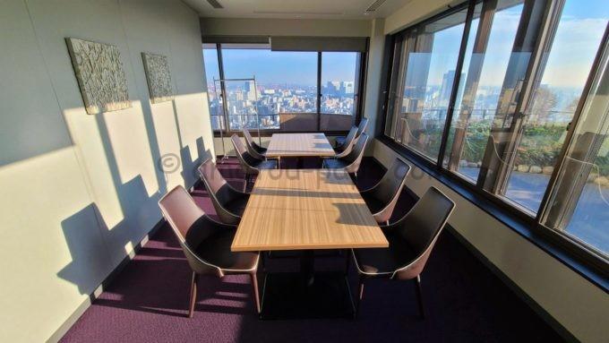 東京マリオットホテルのエグゼクティブラウンジ内にあるミーティングルーム