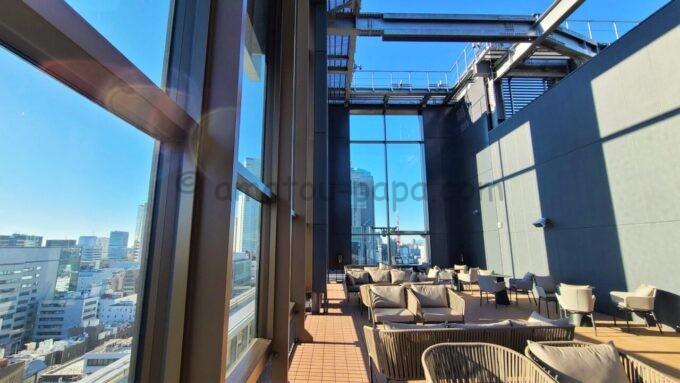 ACホテル・バイ・マリオット東京銀座のルーフテラスからの眺望と雰囲気