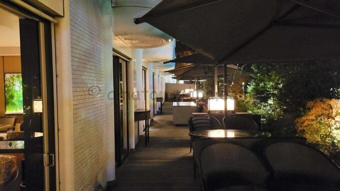 グランドプリンスホテル新高輪のクラブラウンジ(CLUB LOUNGE)のテラス席