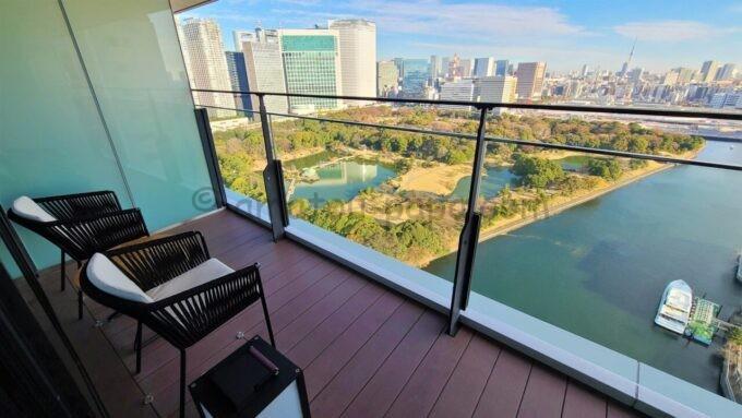 メズム東京、オートグラフ コレクションのchapter 1(ダブル、ガーデンビュー、バルコニー)のバルコニーからの眺望