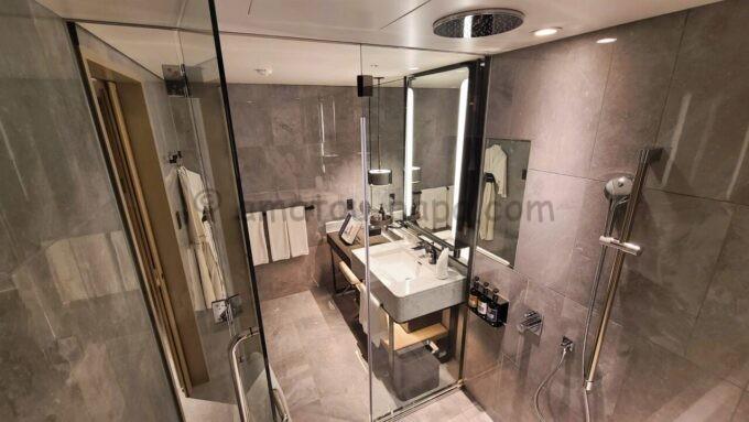 メズム東京、オートグラフ コレクションのchapter 1(ダブル、ガーデンビュー、バルコニー)の浴室全体の雰囲気