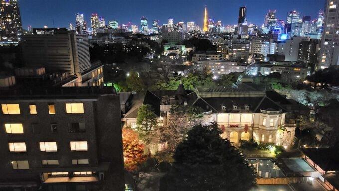 ザ・プリンス さくらタワー東京、オートグラフ コレクションのタワーデラックスからの夜景(東京タワー・貴賓館方面)