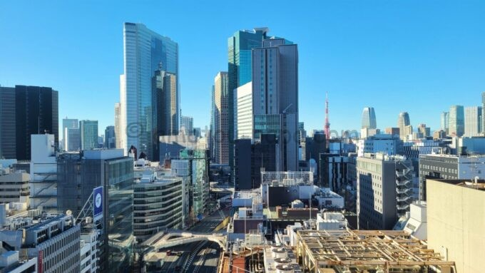 ACホテル・バイ・マリオット東京銀座のルーフテラスからの眺望