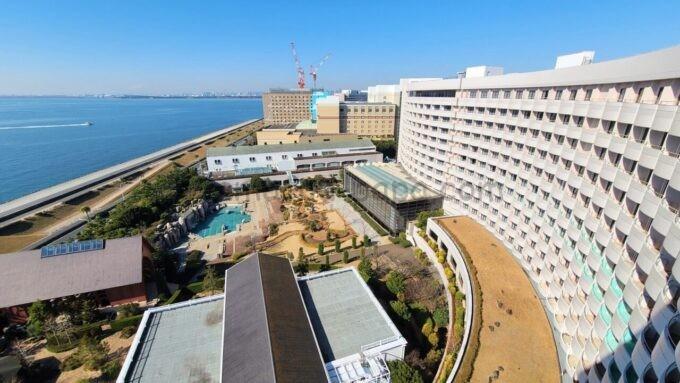 シェラトン・グランデ・トーキョーベイ・ホテルのシェラトンクラブルームからの海側の眺望