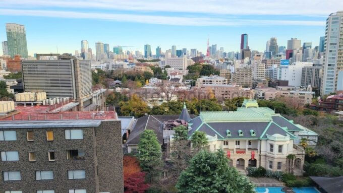 ザ・プリンス さくらタワー東京、オートグラフ コレクションのタワーデラックスからの眺望(東京タワー・貴賓館方面)