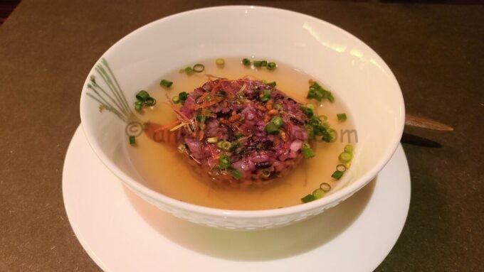 カンナのグレイシャスブルーム「黒米と鰹だしのスープご飯」