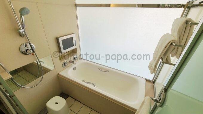 ヒルトン東京ベイのセレブリオセレクトの浴室