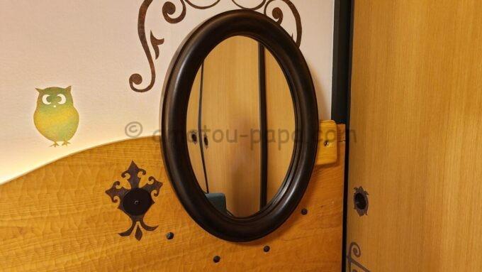 ヒルトン東京ベイのファミリーハッピーマジックルームにある仕掛け鏡