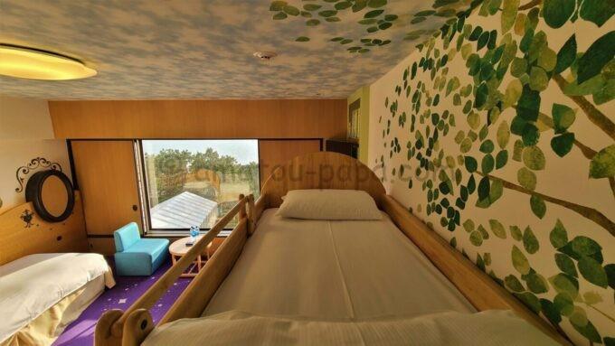 ヒルトン東京ベイのファミリーハッピーマジックルームの2段ベッド