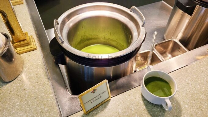 クリスタルパレス・レストランのタピオカ抹茶