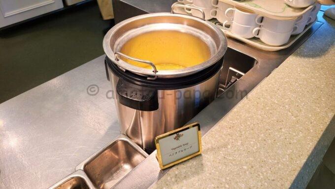 クリスタルパレス・レストランのベジタブルスープ