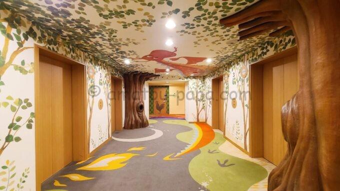 ヒルトン東京ベイの3階エレベーターホール