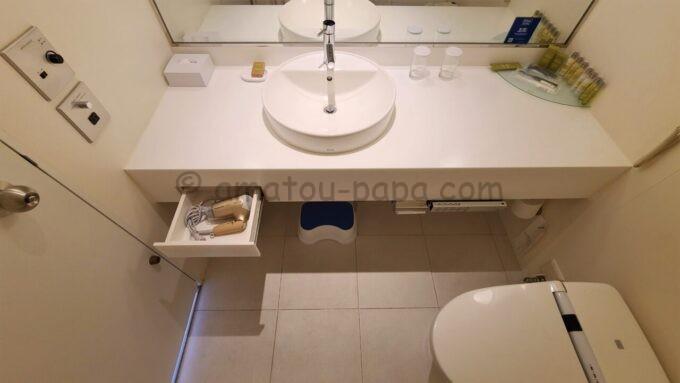 ヒルトン東京ベイのセレブリオの洗面台