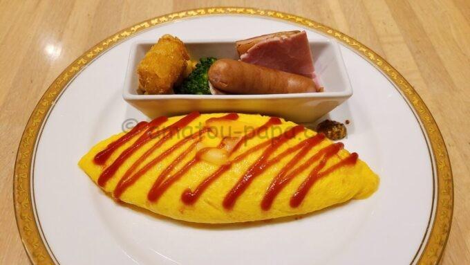 ホテルオークラ東京ベイの朝食(オムレツ)