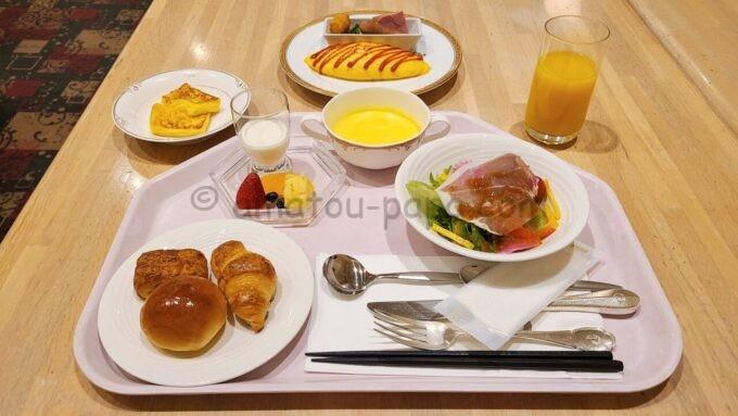 ホテルオークラ東京ベイの朝食(洋食セット)