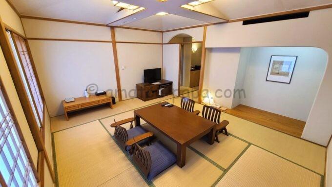 ホテルオークラ東京ベイの和室スイートルームの雰囲気(和室)