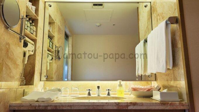 ホテルオークラ東京ベイの和室スイートルームの洗面台