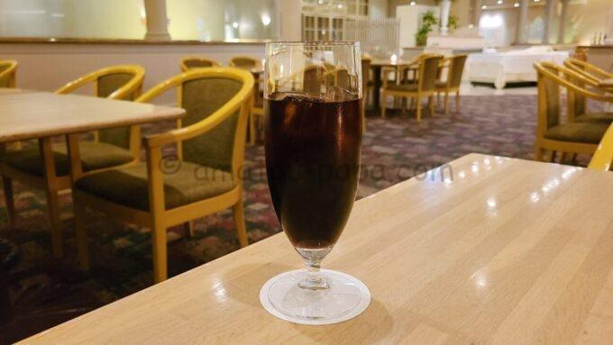ホテルオークラ東京ベイのレストランフォンタナのアイスコーヒー