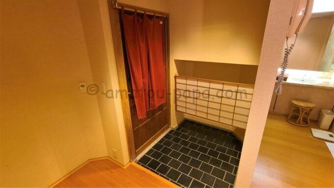 ホテルオークラ東京ベイの貸切風呂の玄関