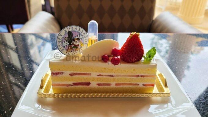ハイピリオン・ラウンジのストロベリーショートケーキ