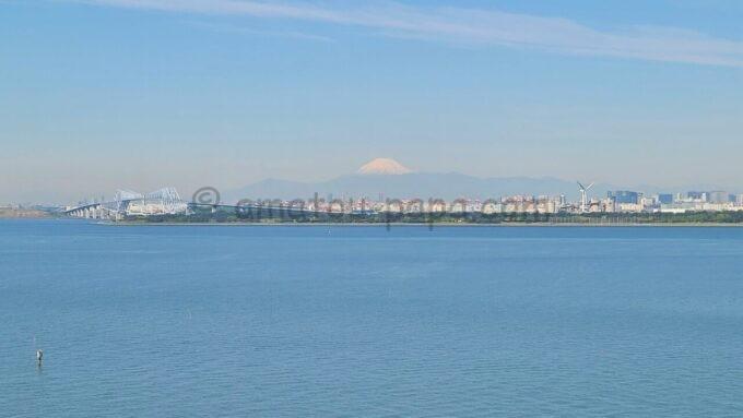 ヒルトン東京ベイのセレブリオからの眺め(富士山)