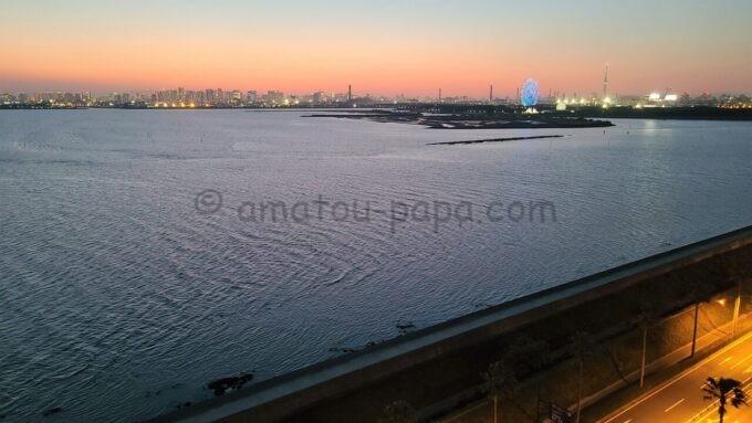 ヒルトン東京ベイのセレブリオからの眺め(夜景)