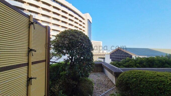 ホテルオークラ東京ベイの和室スイートルームからの眺め