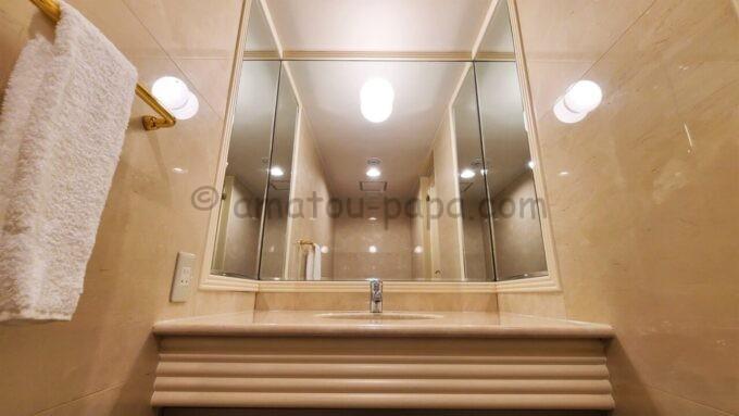 グランドニッコー東京ベイ舞浜のニッコーデラックスファミリールームの洗面台