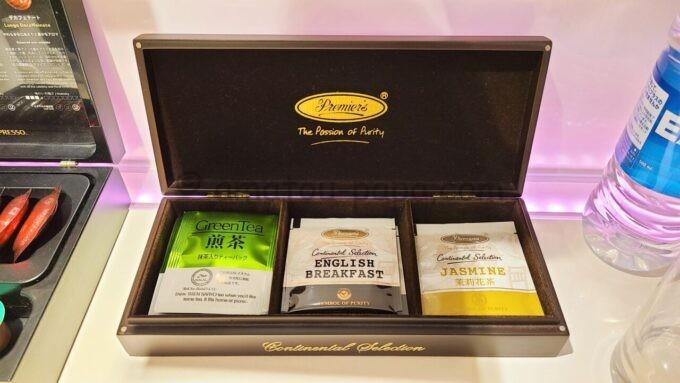ヒルトン東京ベイのセレブリオスイートの煎茶と紅茶
