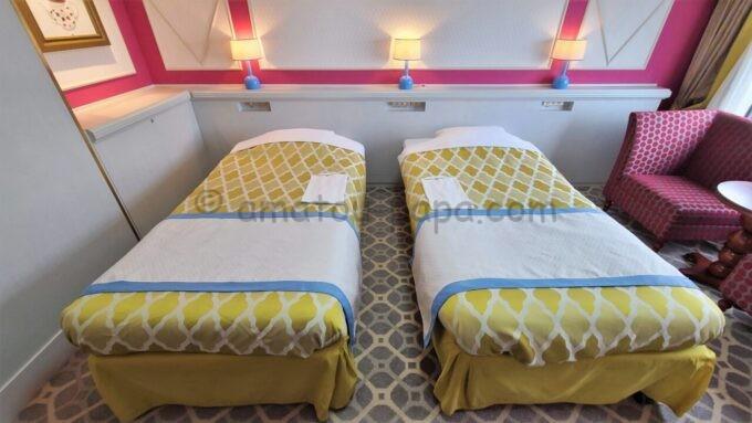 東京ベイ舞浜ホテル ファーストリゾートのキャッスルルーム・ワンダーのベッド