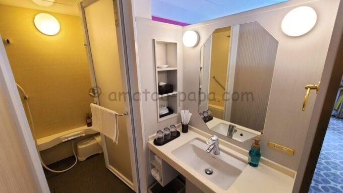 東京ベイ舞浜ホテル ファーストリゾートのキャッスルルーム・ワンダーの洗面所
