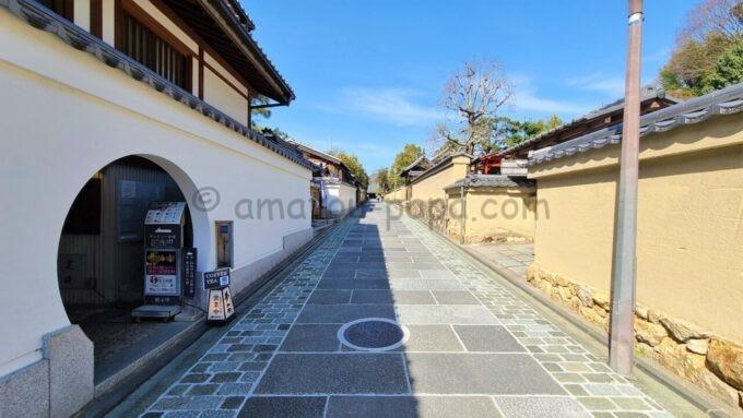 ねねの道沿いにあるアメックの高台寺塔頭 圓徳院「京都特別観光ラウンジ」への入口