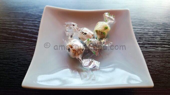 アメックの高台寺塔頭 圓徳院「京都特別観光ラウンジ」で提供されたお茶菓子