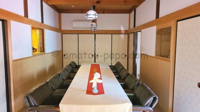 アメックの高台寺塔頭 圓徳院「京都特別観光ラウンジ」のテーブル席
