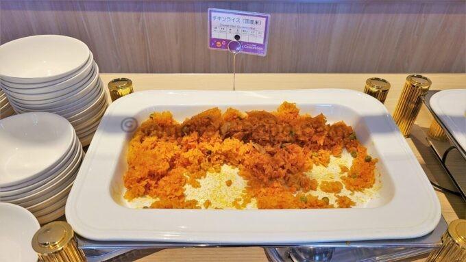 東京ディズニーセレブレーションホテル ウィッシュの朝食「チキンライス(国産米)」