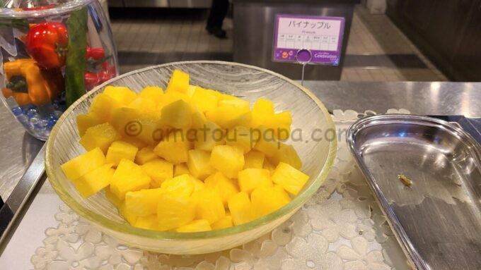 東京ディズニーセレブレーションホテル ウィッシュの朝食「パイナップル」
