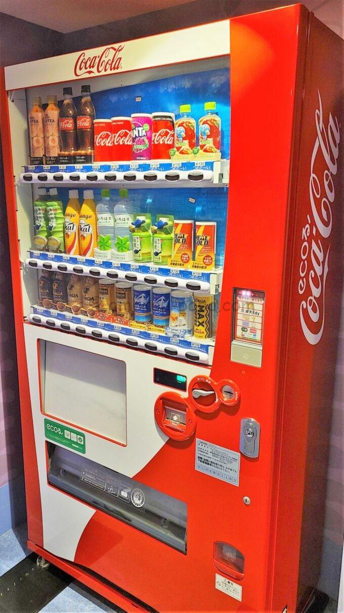 東京ディズニーセレブレーションホテル ウイッシュのコカ・コーラの自動販売機
