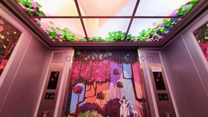 東京ディズニーセレブレーションホテル ウイッシュのエレベータ