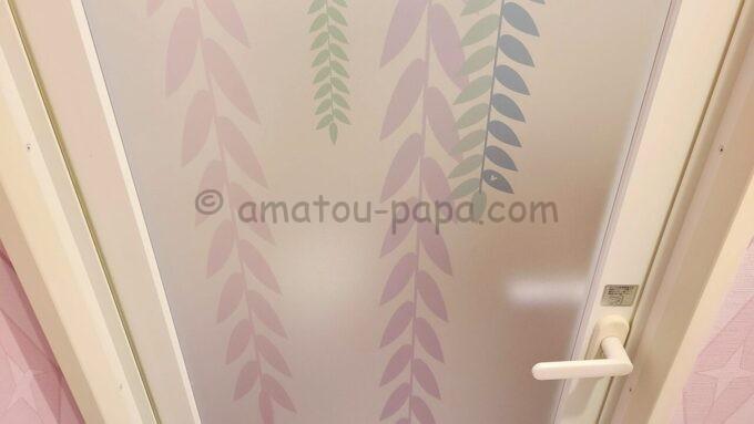 東京ディズニーセレブレーションホテル ウイッシュのスーペリアルームのお風呂のドアの隠れミッキー