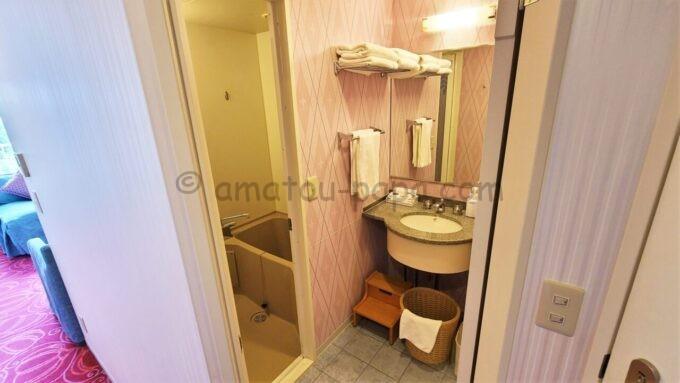 東京ディズニーセレブレーションホテル ウイッシュのスーペリアルームのバスルーム
