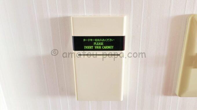 東京ディズニーセレブレーションホテル ウイッシュのスーペリアルームのカードキースイッチ