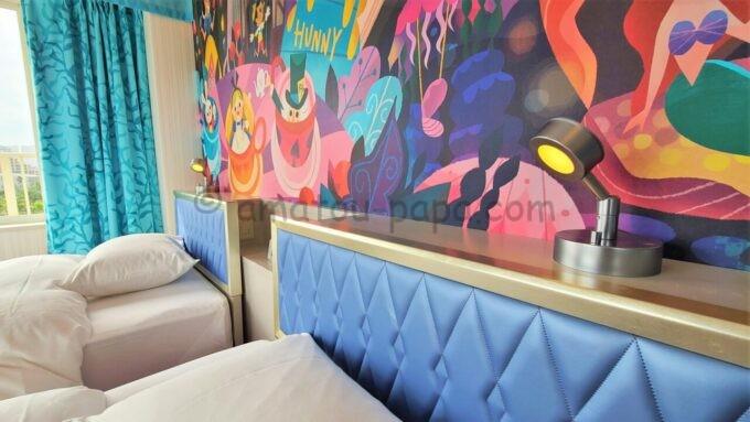 東京ディズニーセレブレーションホテル ウイッシュのスーペリアルームの読書灯