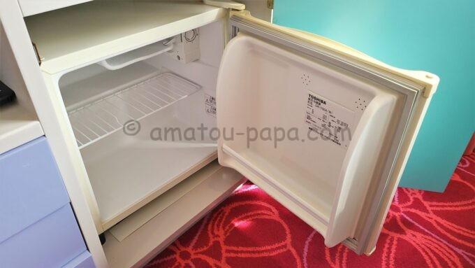 東京ディズニーセレブレーションホテル ウイッシュのスーペリアルームの冷蔵庫